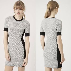 [TopShop] Geometric Panel Bodycon Dress